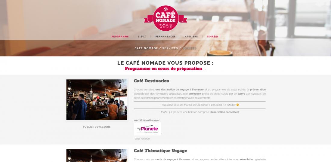 Café Nomade : des soirées