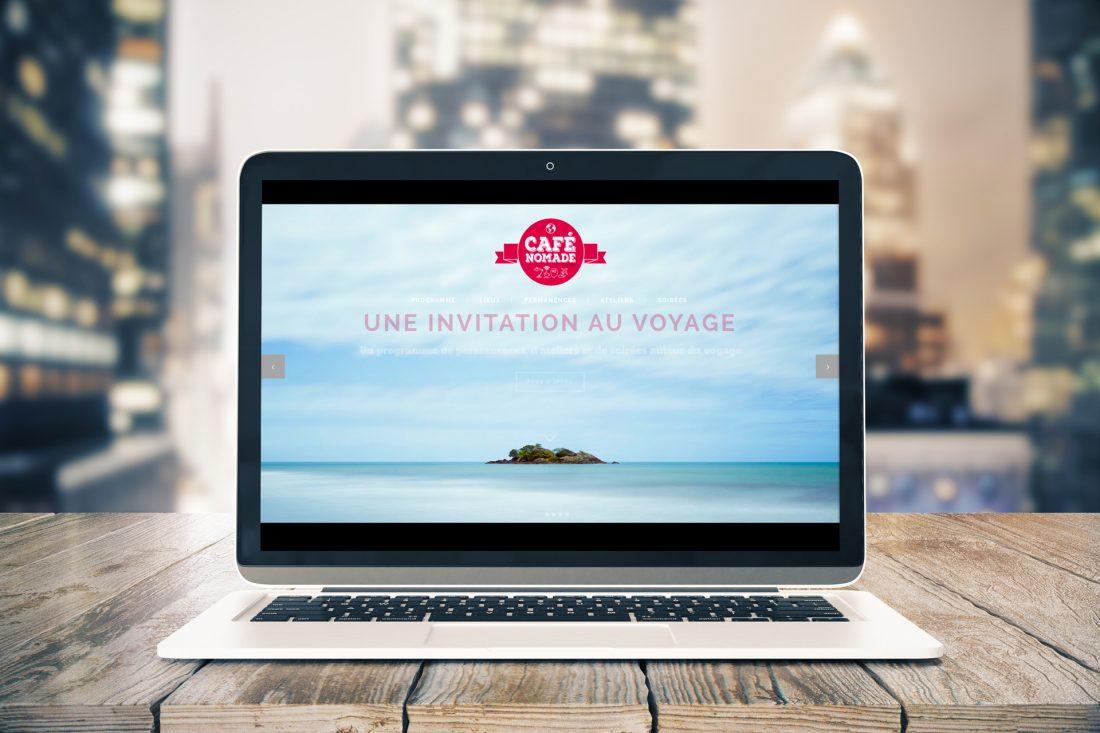 Café Nomade, le site internet